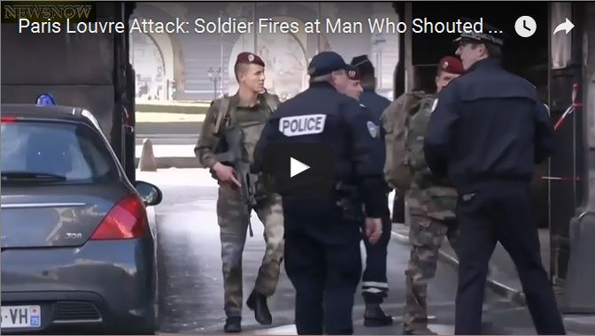 VIDEOS: Terrorist Attack at The Louvre Museum