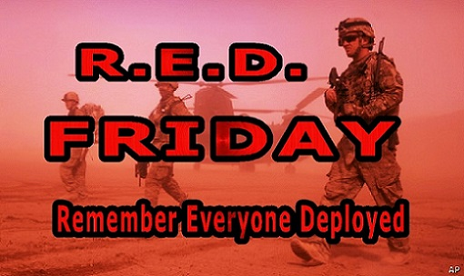 RED FRIDAY: Wear RED on Friday to Support Our Military