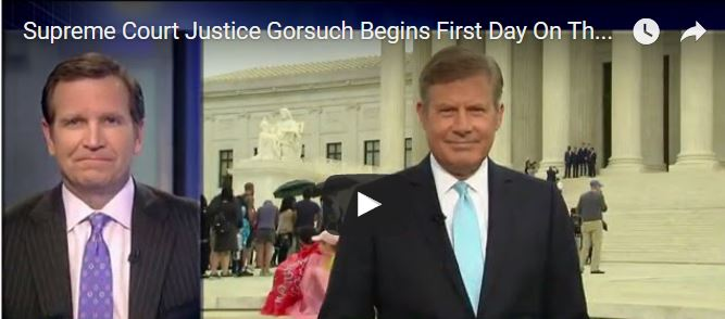 VIDEO: All Eyes on Supreme Court Justice Gorsuch First Day On the Job
