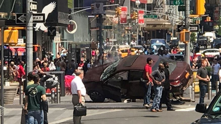 Breaking News: One Dead as Car Jumped off Road and Hit Multiple Pedestrians in New York City