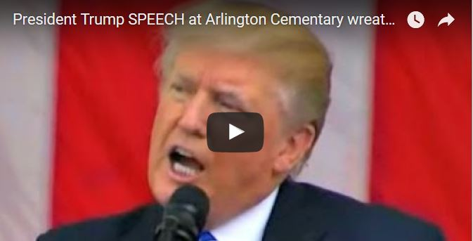 VIDEOS: First Memorial Day Service and Speech for President Trump