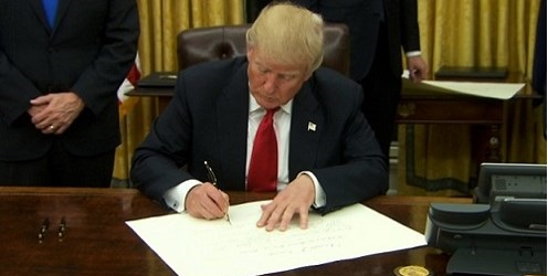 President Trump takes Executive Action on ObamaCare