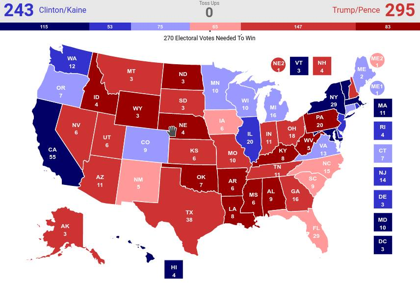 2016 Election Prediction – The Trump Times