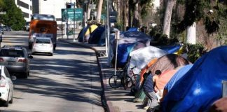 Tent city in Los Angeles