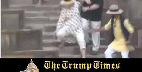 Hillary Clinton Falls Twice on Stairs – Karma is a BITCH!