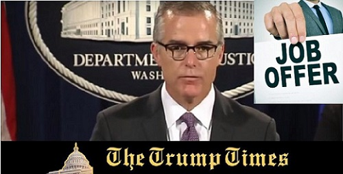 Job Offers from Dems to Hire McCabe Flood in