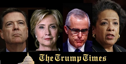 Investigation Referred by GOP for Comey, Clinton & McCabe