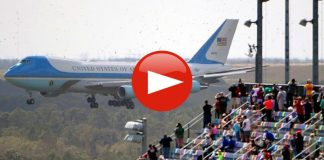 Air Force One Flyby of Daytona 500