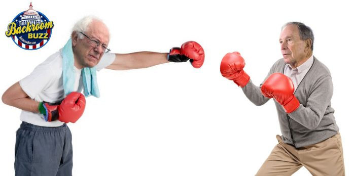Bernie Sanders and Mike Bloomberg Fighting