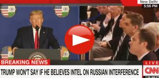 CNN Jim Acosta and President Trump in India questioning Russian meddling in 2020 election