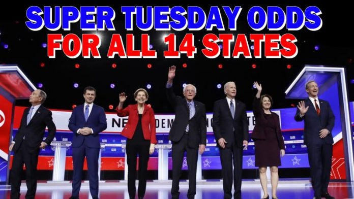 Democrats Super Tuesday odds of winning