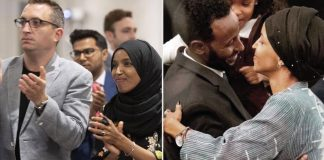Ilhan Omar, Tim Mynett, and ex-husband, Ahmed Hirsi