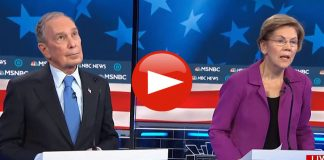 Elizabeth Warren had Mike Bloomberg Rolling Eyes at Democratic Debate