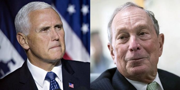 Mike Pence and Mike Bloomberg