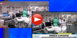 CBS shows footage from Italy while pretending it was NYC Hospital.