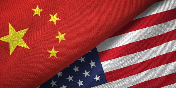 China USA American Flag