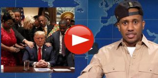 "SNL calls black leaders praying over President Trump ""White House Negroes"""