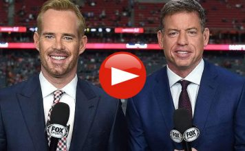 Fox Sports NFL broadcasters Joe Buck and Troy Aikman Caught On Hot Mic mock US Military Fly over