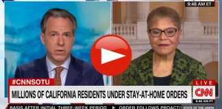 Rep. Karen Bass defends California 'Do As I Say, Not As I Do' officials violating their own draconian COVID-19 lockdown laws